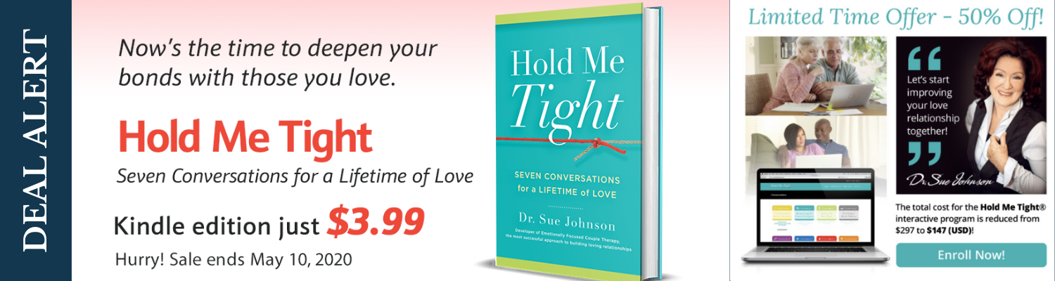 Hold Me Tight Book by Dr. Sue Johnson $3.99 until May 10